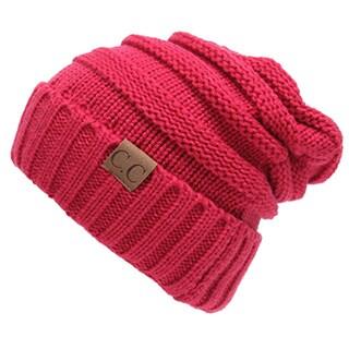 CC Trendy Cable Knit Acrylic Slouchy Beanie