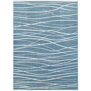 LNR Home Grace LR81125 Blue Rug (5' x 7'2)