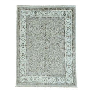 Viscose From Bamboo Oushak Hand-knotted Oriental Rug (5'2 x 6'9)