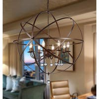 Jossie 8-light Crystal 30-inch Bronze-finish Chandelier
