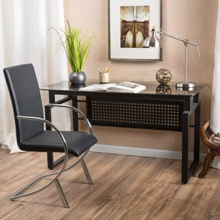 Fiske Glass Computer Desk by Christopher Knight Home