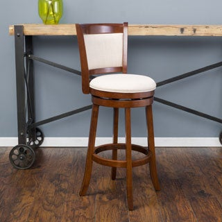 Christopher Knight Home Mallik Fabric Swivel Backed Bar Stool