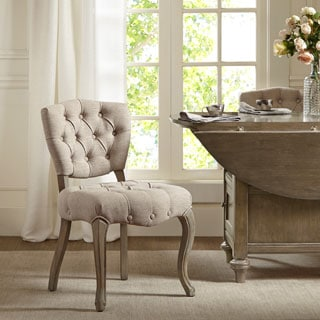 Madison Park Teigan Linen Dining Chair (Set of 2)