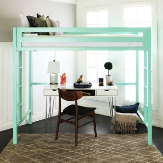 Twin Metal Loft Bed - Mint