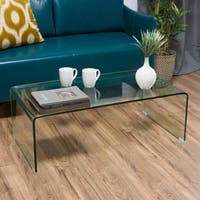 Ramona Glass Rectangle Coffee Table by Christopher Knight Home