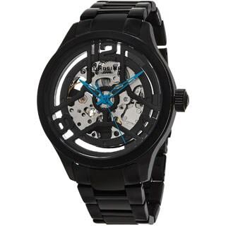 Stuhrling Original Men's Legacy Automatick Skeleton Black Stainless Steel Bracelet Watch