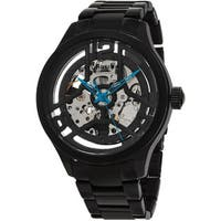 Stuhrling Original Men's Legacy Automatick Skeleton Black Stainless Steel Bracelet Watch