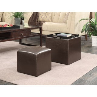 Convenience Concepts Designs 4 Comfort Park Avenue Single Ottoman With Stool