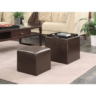 Convenience Concepts Designs 4 Comfort Park Avenue Single Ottoman With Stool