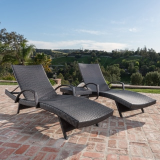 Toscana Outdoor 2 Piece Wicker Armed Chaise Lounge Set By