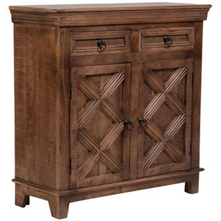 Wanderloot Plantation Mango Wood 2-door, 2-drawer Sideboard (India)
