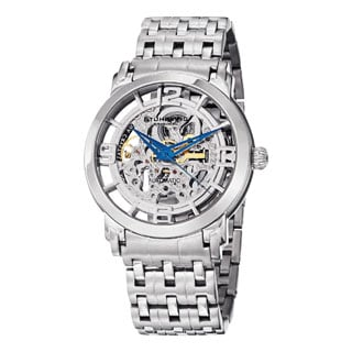 Stuhrling Original Men's Winchester Reserve Automatic Skeleton Stainless Steel Bracelet Watch