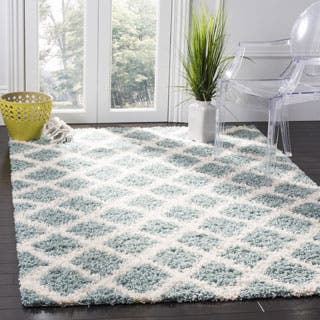Safavieh Dallas Light Blue Ivory Trellis Rug 4 X