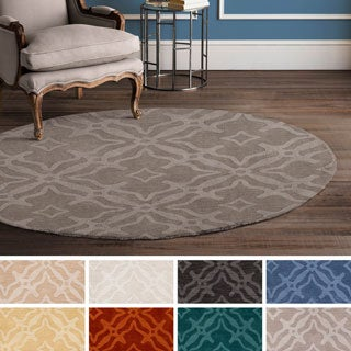 Hand-Loomed Ledo Wool Rug (7'9 Round) (3 options available)