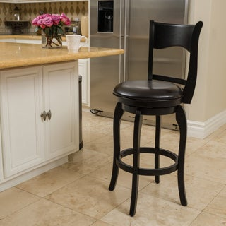Christopher Knight Home Kolton Bonded Leather Swivel Barstool