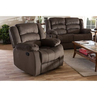 Baxton Studio Panos Modern and Contemporary Taupe Microsuede 1-Seater Recline