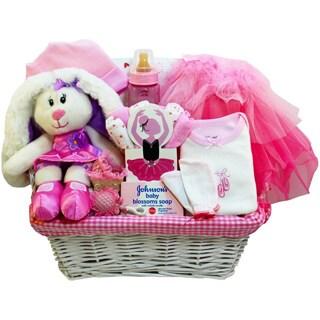 Baby Girl Pink Ballerina Gift Basket