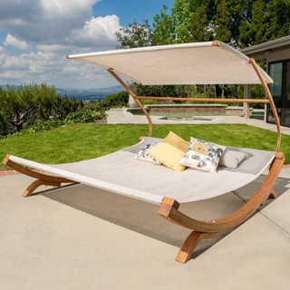 Marrakech Sunbed with Adjustable Canopy by Christopher Knight Home