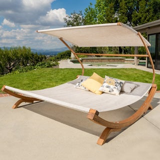 Christopher Knight Home Marrakech Sunbed with Adjustable Canopy