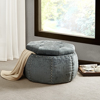 Madison Park Corby Octagon Storage Ottoman