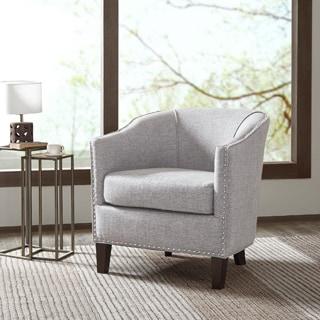 Madison Park Emery Cream Barrel Arm Chair