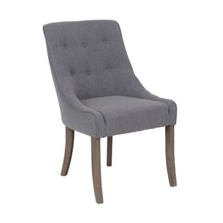Crafted Home's Juliette Grey Upholstered Chair