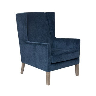 Crafted Home's Juliette Upholstered Chair in Blue