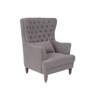 Crafted Home's Juliette Upholstered Chair in Taupe
