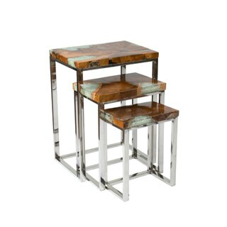Crafted Home's Aiden Petrified Wood Nesting Table