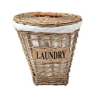 Crafted Home's Mercer Laundry Basket with Cotton Liner
