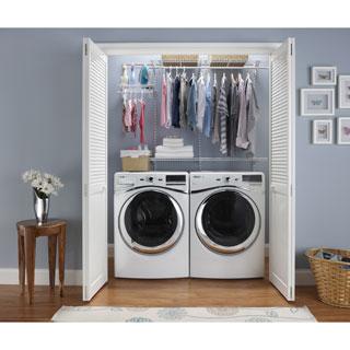 ClosetMaid ShelfTrack 4ft to 6ft White Closet Organizer Kit