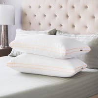 Swiss Lux Medium Density Gusseted Pillows (Set of 2)