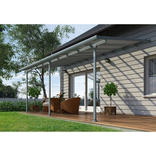 Palram Feria Grey 10ft. x 24ft. Patio Cover
