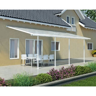 Palram Feria White 10ft. x 24ft. Patio Cover