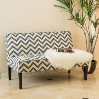 Dejon Chevron Fabric Loveseat by Christopher Knight Home