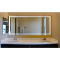 Innoci-USA Terra LED Wall Mount Lighted Vanity Mirror Featuring IR Sensor, Rocker Switch and Durable Aluminum Frame
