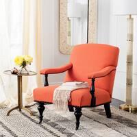 Safavieh Devona Orange Brass Nail Heads Arm Chair