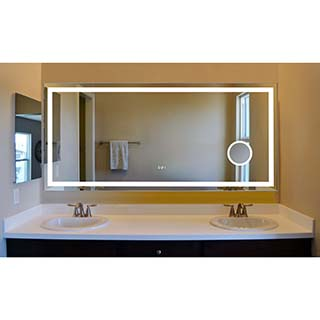 Innoci Usa Eros Led Wall Mount Lighted Vanity Mirror Featuring Built In Cosmetic