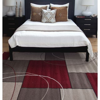 Greyson Living Metro Red/ Beige Olefin Area Rug (5'3 x 7'6)