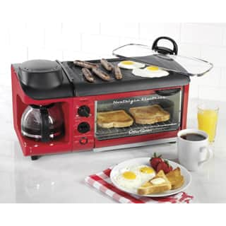 Nostalgia Electrics BSET300RETRORED Retro Series 3-in-1 Breakfast Station|https://ak1.ostkcdn.com/images/products/P18404857a.jpg?impolicy=medium