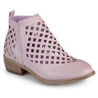 Journee Collection Women's 'Kat' Faux Leather Cut-out Caged Ankle Booties