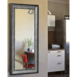 American Made Rayne Sterling Charocal Non-beveled Body Mirror