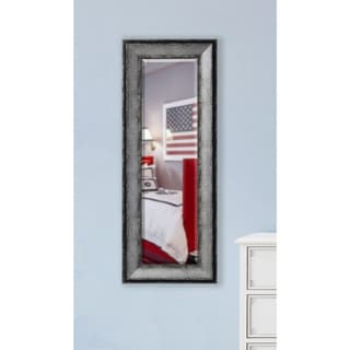 American Made Rayne Sterling Charocal Beveled Body Mirror