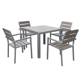 Havenside Home Tumaco Sun-bleached Grey 5-piece Outdoor Dining Set