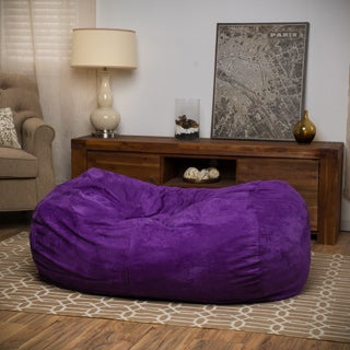 Christopher Knight Home Delilah Fabric 4-foot Lounge Beanbag Chair