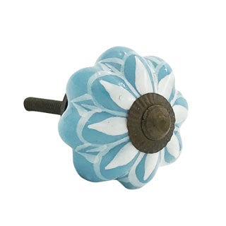 Sunflower Blue Ceramic Drawer/ Door/ Cabinet Knob (Pack of 6)