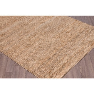 Hand-knotted Jute Knobby Loop Rug (5' x 7'6)