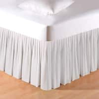 White 18-inch Seersucker Bed Skirt