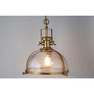 Brass Antique Ribbed Pendant Chandelier