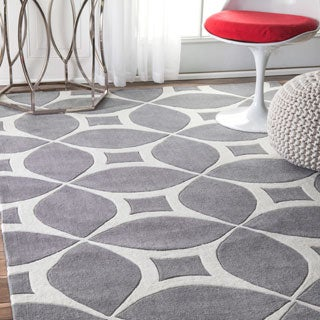 Palm Canyon Invierno Handmade Grey Area Rug (8'6 x 11'6) - Thumbnail 0